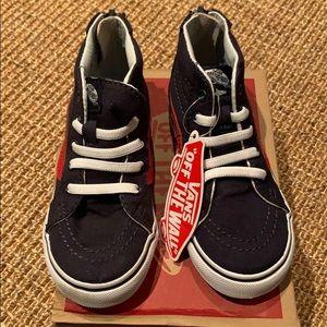 Vans Sk8-Hi Zio kids sneakers size 9 navy